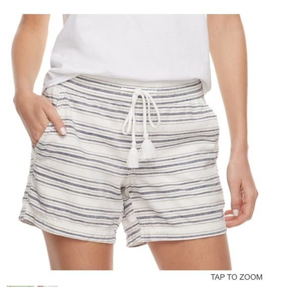 ee798375291d Sonoma Shorts | Womens Striped Linen Soft | Poshmark